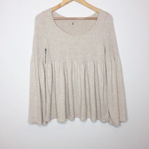 Anthropologie Knitted & Knotted oatmeal sweater S